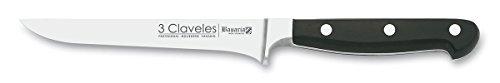 3Claveles Bavaria - Cuchillo forjado para deshuesar, 13 cm, 5 pulgadas