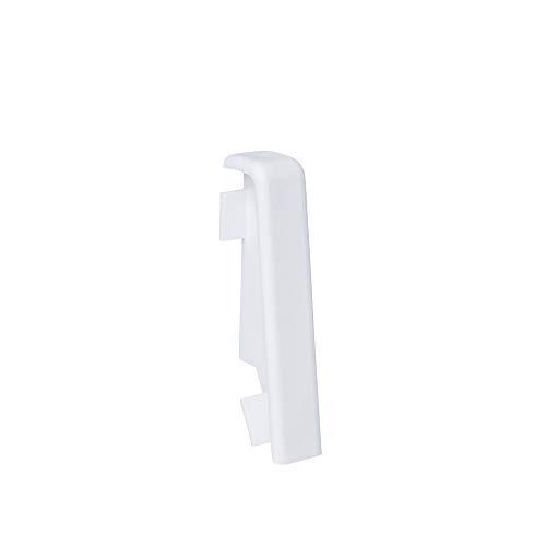 Verbinder für MDF-Sockelleisten in 60mm Höhe in Weiß