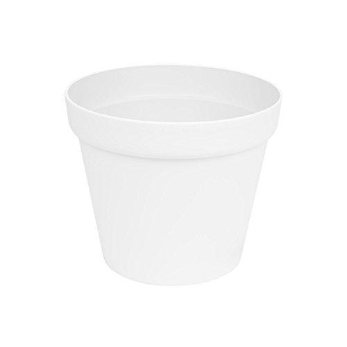 Patio Blumentopf Pflanzkübel rund Topf Übertopf Kunststoff D-26 cm weiß