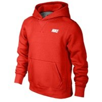 Nike Boys YA76 Brushed Fleece Pullover Hoodie - M (Nike Kids Fleece)
