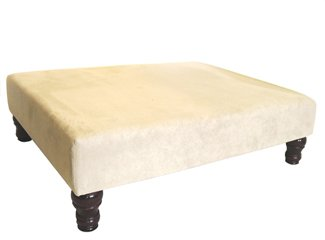 Footstools2u Repose-pied/table en simili daim Couleur pierre
