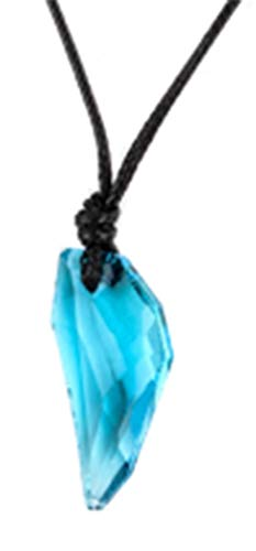 AccessCube Männer Antike Kristall Stark Wolf Fang Zahn Anhänger Halskette Vintage Wolf Zahn Drachen Strass Anhä (Blau) (Zahn Anhänger Halskette Unter 5)