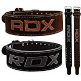 RDX Powerlifting Gewichthebergürtel Rindsleder Bodybuilding Crossfit Fitness Trainingsgürtel Gym weightlifting Belt Krafttraining (MEHRWEG)