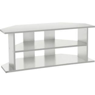 Grand meuble TV d'angle – Blanc.