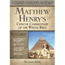 Matthew Henry's Concise Commentary on the Whole Bible (Super Value)