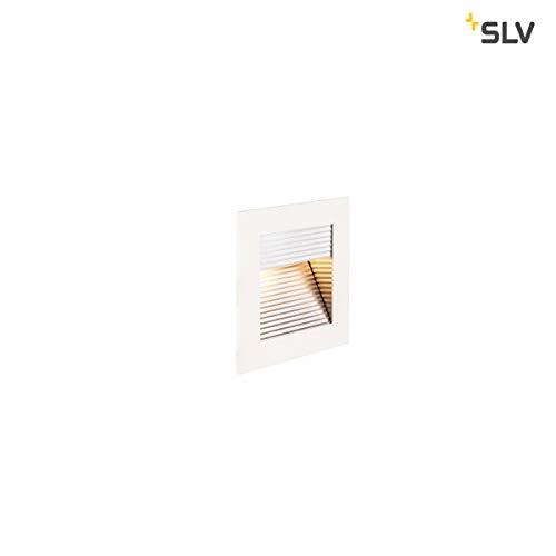SLV LED Einbauleuchte Frame Curve | Wand- und Deckenleuchte für den Einbau | Eckig, Weiß, 2700K Warmweiß | Stilvolle Wandleuchte, Einbau-Strahler LED Treppen-Beleuchtung, Stufen-Licht, Treppenlicht - Slv Led
