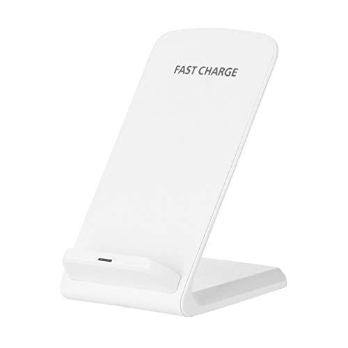 Glowjoy Fast Wireless Charger,Qi Ladegerät kabelloses Induktive Ladestation Schnellladestation Induktionsladegeräte Kompatibel für Samsung Galaxy Note10/Note10+ (Weiß)