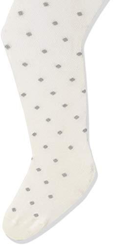 Dot Strumpfhose (FALKE Mädchen Glitter Dot Strumpfhose, offwhite, 110-116)