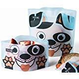 Set di 4 borse riutilizzabili per sandwich e snack, cane