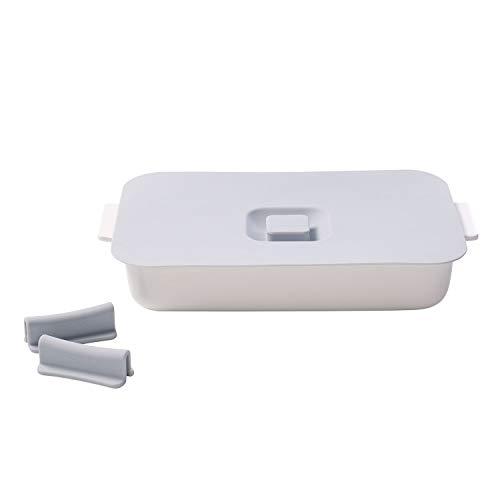 Villeroy & Boch Clever Cooking Ensemble avec plat à four rectangulaire, 4 pièces, 30 x 20 cm, Porcelaine Premium/Silicone, Blanc