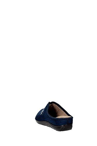 GRUNLAND CELY CI0989 blu ciabatte donna plantare estraibile panno Blu