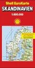 Skandinavien. Dänemark, Schweden, Norwegen 1 : 1 500 000 / 1 : 750 000. (Die Große Shell Autokarte) -