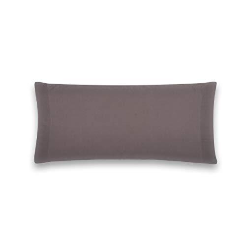 Sancarlos - Funda de almohada para cama, 100% Algodón percal, Color gris, Cama de 150 cm