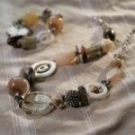 Mohini recyceltem Glas & Aluminium Halskette–Fair Trade