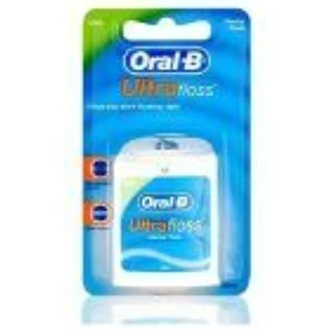 THREE PACKS of Oral-B Ultra Floss Waxed Mint by Oral-B
