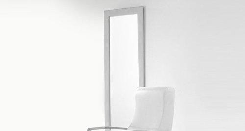 Adec - Espejo tapizado, medidas 60 x 3 x 160 cm, color plata