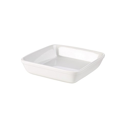 Nextday Catering Equipment Supplies nev-b22 a-w Royal cuadrado de horno, 16 cm, color blanco...