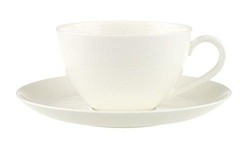 Villeroy & Boch Anmut Tasse Petit Déjeuner avec Assiette, 2 pièces, Porcelaine Bone China, Multicolore