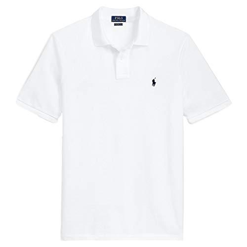 Polo Ralph Lauren Herren Poloshirt Slim Fit Mesh - weiß - XX-Large