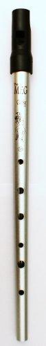 TIN WHISTLE Stimmung D silber -- die beliebte Whistle vom Originalhersteller aus England mit Grifftabelle und Noten zu 4 Songs (Stimmung Bleistifte)