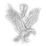 CleverEve 14K White Gold Pendant Eagle 3.1 Grams
