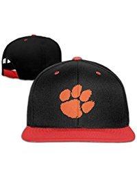 Big Boys' Black Baseball Clemson University Adjustable Snapback Hats Clemson University Baseball
