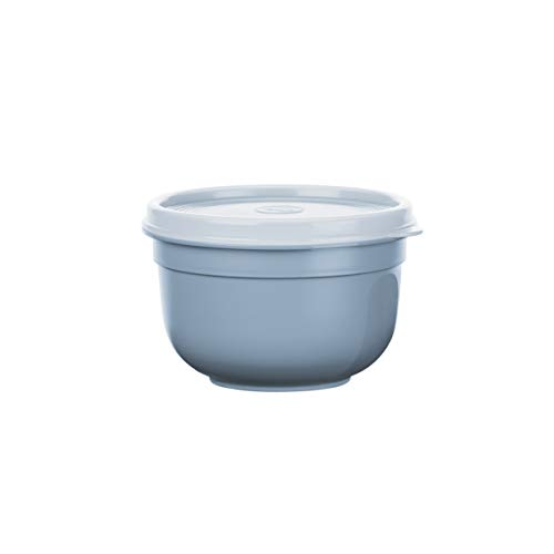 Emsa N1080500 Superline Frischhaltedose, Schüssel: Kunststoff (PP), Puderblau 13,5 x 13,5 x 8,8 cm, 0,6 L
