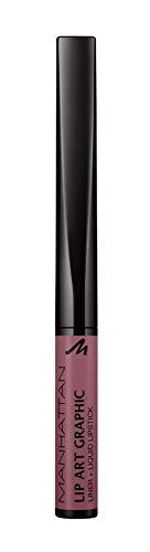 Manhattan Lip Art Graphic 2-in-1 Lip Liner und Liquid Lipstick für samtig-weiche Lippen, Fb. 150...