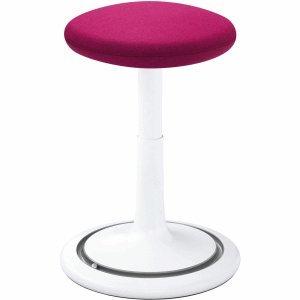 Ongo Sitz- und Stehhocker Classic regular 42-64cm Kvadrat divina weiß/pink/silber