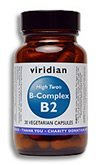 HIGH TWO® Vitamin B2 with B-Complex: 90 Veg Caps by Viridian Nutrition