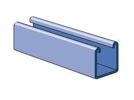 Genuine Unistrut P1000 1-5/8 12 Gauge Steel Strut Channel, Solid Back, Perma-Green III- Green Powder Coated Finish, 5 Foot Length by UNISTRUT