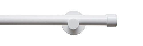 Tilldekor Gardinenstange HIGH-LINE ANDRAX, weiß-glanz, Ø 20 mm,1-Lauf, 200 cm, inkl. Trägern und Endstücken