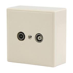 Preisvergleich Produktbild Fixapart Antennen Enddose TV/UKW, CX WALLBOX2