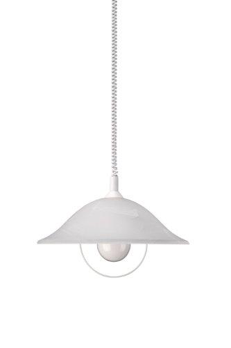 Massive Suspension light - suspension lighting (Flexible, Metal, E27, Glass, White, Grey, White)