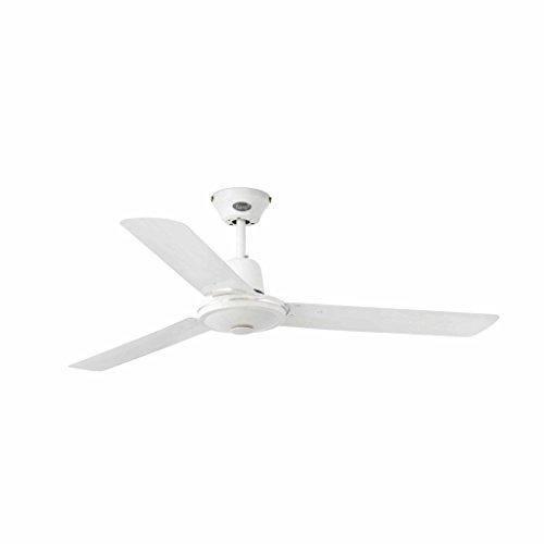 Faro Barcelona Eco indus 33005 - Ventilador sin luz, acero, color blanco
