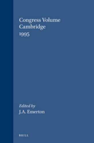 Congress Volume: Cambridge, 1995