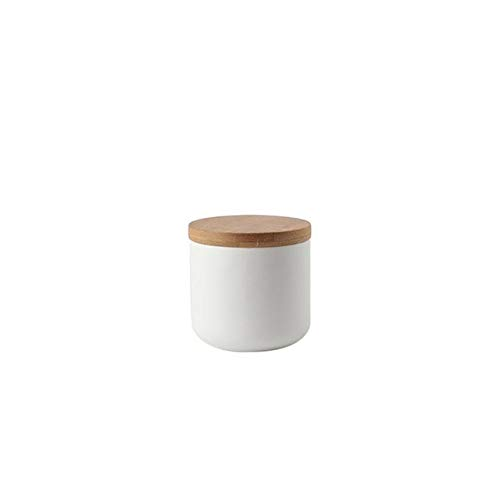 niuniuniu Versiegelter Keramik-Vorratsbehälter für Gewürzdosenbehälter für Kaffee mit Deckel, Teedosen, Küche 260/800 / 1000ml SWeiß Butterfly Ginger Jar