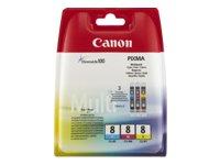 Canon CLI-8 C/M/Y MULTI PACK SEC VALUE PACK BLISTERED, 0621B036 (VALUE PACK BLISTERED)
