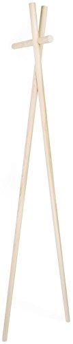 kommod K901 Garderobe, Holz, natur, 178 x 42 x 40 cm