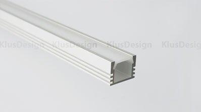 Aluminium Profil PDS4 ALU eloxiert mit opaler Abdeckung incl.opaler Abdeckung L=2 Meter Aluminium Profil extra starke Ausführung.Die Abdeckung ist zum Einklippsen. Mit dieser Abdeckung erzielen Sie ein HOMOGENES Licht Sie sehen die Led Punkte nicht mehr (Kein Billiger China Nachbau)