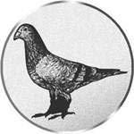 S.B.J - Sportland Pokal/Medaille Emblem, Motiv Taube, Durchmesser 50 mm, silber