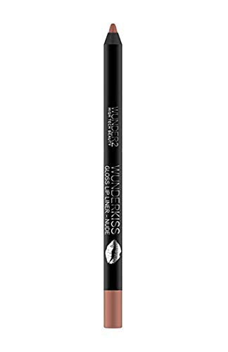 WUNDER2 Wunderkiss Crayon à Lèvres Fini Gloss Longue, Nude