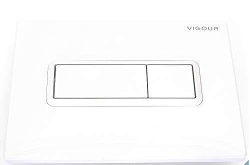 VIS Betätigungsplatte TEES - für WC - 205 x 145 mm - 2-Mengen-Spültechnik - Farbe wählbar (Weiss - VIGTEESN) -