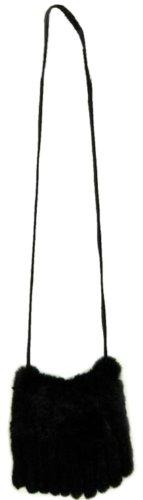 FursNewYork Chinchilla Rex Hase Rosette & Handtasche mit Fransen -