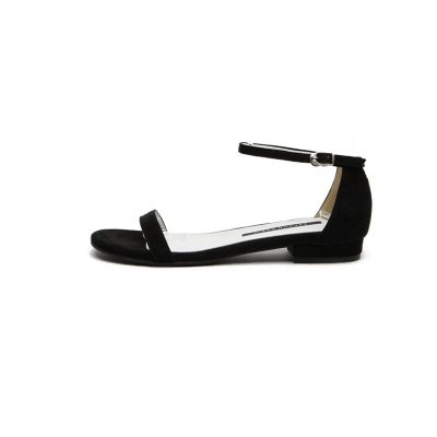 XY&GKFrau Sommer in Rom All-Match Sommer Sandalen Sandalen mit einem Flachbild Original minimalistisch Sandalen, komfortabel und schön 40 black