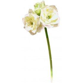 Preisvergleich Produktbild Amaryllis gefüllt , mit 4 Blüten, 76 cm x 25 cm - Crémefarben (künstlich)