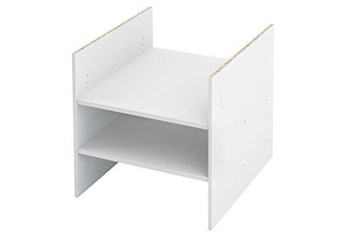 Inwona IKEA Kallax Expedit Regal Einsatz mit 2 Fachböden Ablagefach Extra Fach Fachboden Verstellbarer Boden Dokumentenablage Fachteiler für 3 Einzelfächer 33,5 x 33,5 x 38 cm Weiß