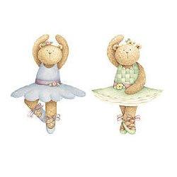 Wallies Wallpaper ritagli (25Debbie Mumm Ballerina Bear Wallies) by Wallies