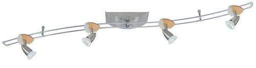 Paulmann 96522 - Sistema di illuminazione con faretti Hip Cannes, 4 x 35W, 230/12 Volt, in legno e ferro
