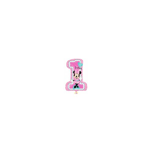 Amscan International 8.725.410,5cm Minnie Mouse 1. Geburtstag Super Form (Dress Minnie Up)
